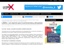 """GUATEMALA-News of the presentation of the anthology of poetry """"A Jasmine around the world"""" in the magazine """"La Fábrik"""""""