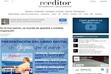 """MEXICO-News of the presentation of the anthology of poetry """"A Jasmine around the wNews of the presentation of the anthology of poetry """"A Jasmine around the world"""" in the newspaper """"Reeditor"""""""