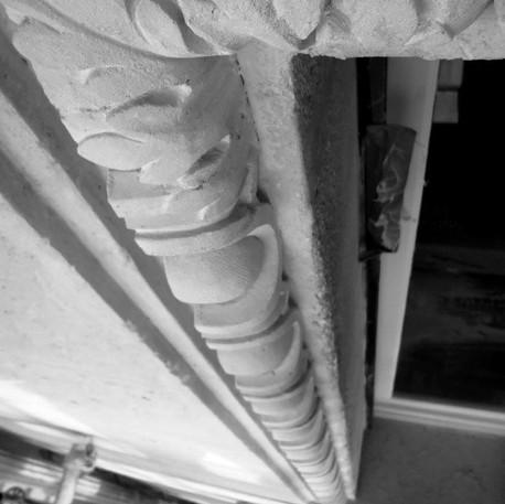 Ovum frieze restoration