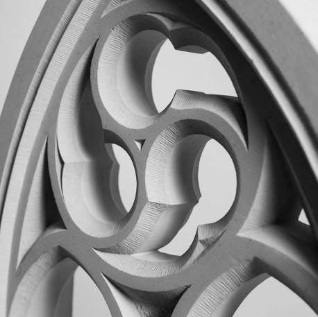 Creation small rose window