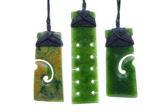 Selection of 3 Toki made of New Zealand Pounamu