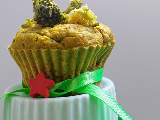 Muffin de Brócolis com Cenoura – Cores integradas para controlar a compulsão alimentar