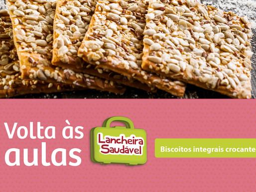 Biscoitos integrais crocantes - Volta às aulas com Lancheira Saudável :)
