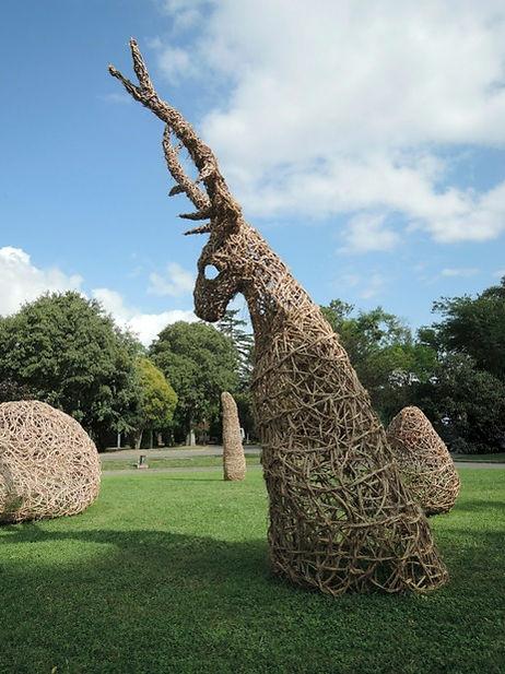 Cerf - sculpture clematite sauvage