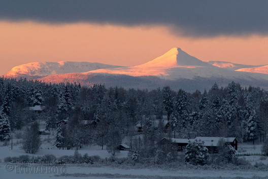 Mount Städjan from the Town of Särna
