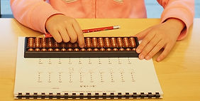 Abacus and Mental Math student doing homework, Markham, Ontario