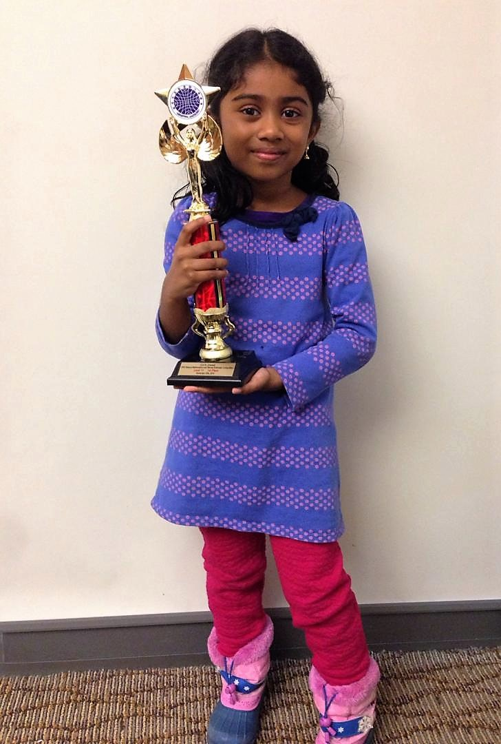 Thinegini with First Place Trophy
