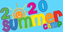 2020 Summer Camp Clipart blue background