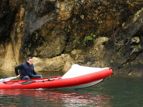 Planing in inflatable dinghy SPearfish