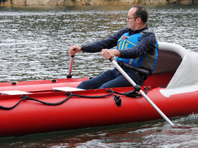 Rowing a Spearfish inflatable dinghy