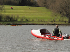 Motoring on a lake