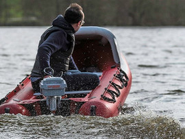 Electric motor on Spearfish inflatable dinghy