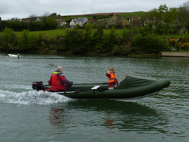 Going fast in inflatable dinghy