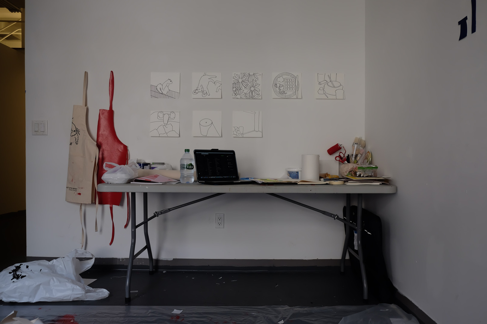 Work Desk at Temporary Working Space