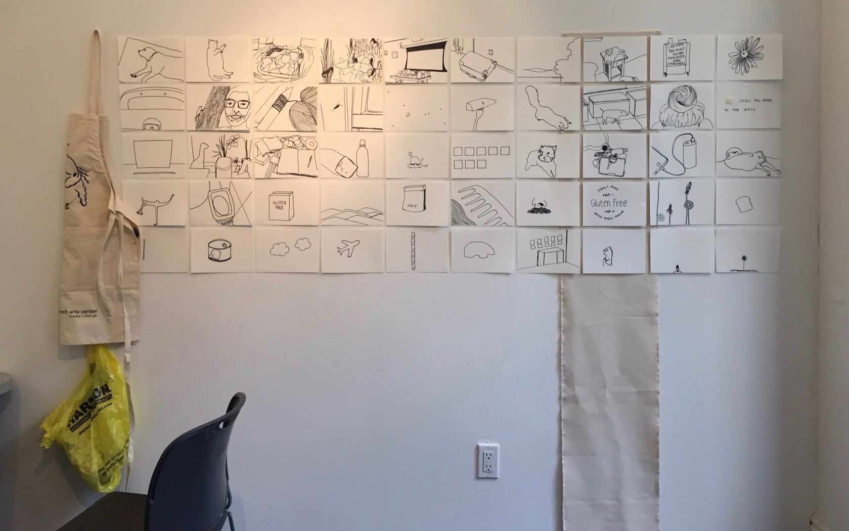 Sketches at Temporary Working Space