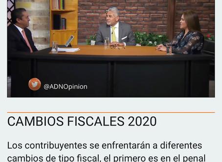 ADN40 Entrevista en TV del 4 de diciembre de 2019. Cambios Fiscales 2020.