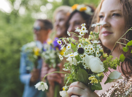 A Beautiful Wedding with Local Flowers