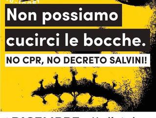 1 dicembre/ No Cpr, no decreto Salvini