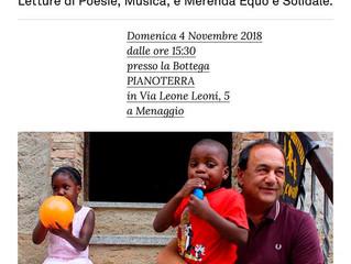Arci Settima Generazione/ 4 novembre/ Poesie Accoglienti, Solidarietà a Riace
