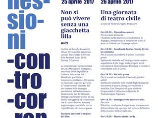 Connessioni Controcorrente/ 25 e 26 Aprile allo Spazio Gloria/ cinema, teatro e musica di impegno ci