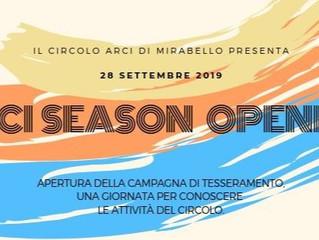 28 settembre/ Arci Mirabello/ Season opening!