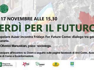 17 novembre/ Auser con Como futuribile/ Venerdì per il futuro
