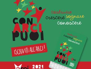 Tesseramento Arci 2021-22/ Con Arci puoi...