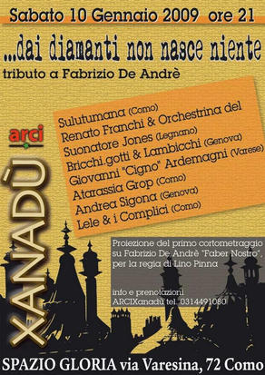 Terza edizione dell'annuale tributo a Fabrizio De André