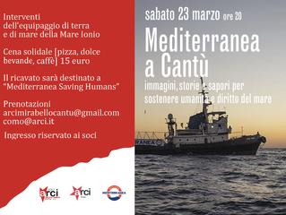 23 marzo/ Arci Como e Arci Mirabello/ Mediterranea a Cantù: Immagini, storie e sapori per sostenere