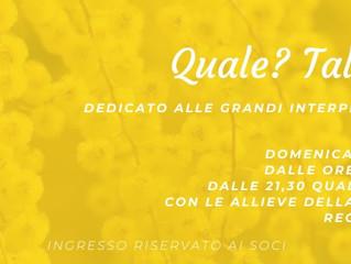 RINVIATO A DATA DA DESTINARSI - 8 marzo/ Arci Mirabello/ Quale? Tale show