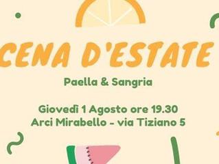 1 agosto/Arci Mirabello/Cena d'Estate