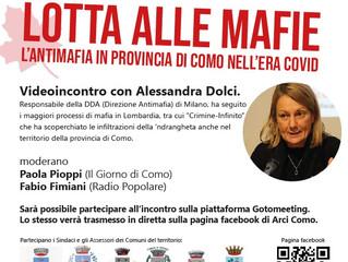 """3 novembre/ Circolo Ambiente """"Ilaria Alpi"""" e Arci Como/ Videoconferenza con la PM Dolci"""