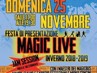 25 novembre/ Arci Magic Bus/ Magic Live