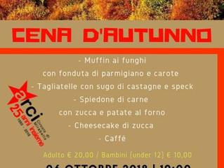 Arci Mirabello/ 6 ottobre/ Cena d'autunno