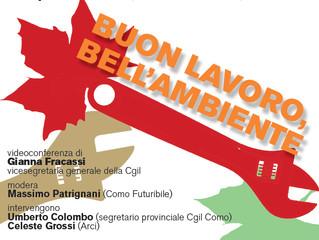 25 settembre/ Arci e Cgil Como/ Lavoro e ambiente futuribili con Gianna Fracassi