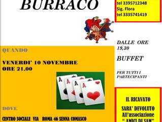 10 novembre/ Arci Pensionati Sennesi/ Torneo benefico di Burraco