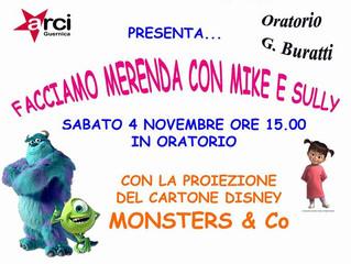 4 novembre/ Arci Guernica/ Merenda con Mike e Sully