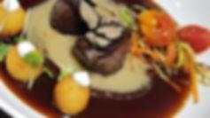 Elk medallions _Foie gras, cognac cream