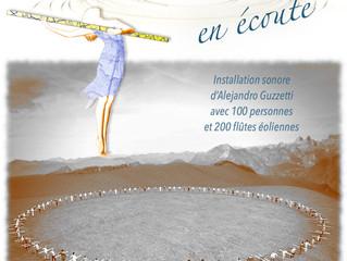 """Inscrivez vous à """"en écoute"""" l'installation interactive sonore d'Alejandro Guzzett"""