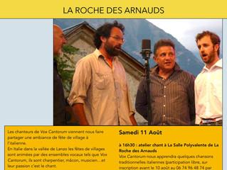 Vox Cantorum l'11 août à La Roche des Arnauds