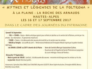 Les Journées du Patrimoine à La Roche des Arnauds - La Poltrona les 16 et 17 Septembre
