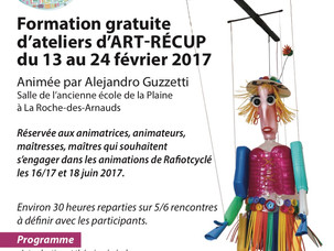 Formation gratuite pour animateurs d'ateliers d'ART-RECUP du 13 au 24 février 2017 à La Roch