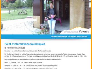 """Mardi 12 Juillet de 17 à 19h l'Association Espace Plaine au chalet """"point i"""" de La Roc"""