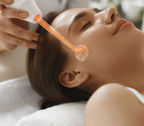 Face Beauty Treatment. Woman Getting Fac