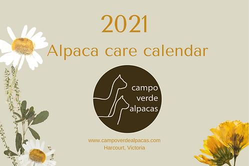 2021 Alpaca Calendar