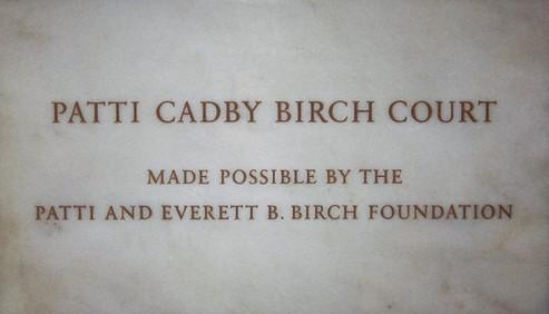 Patti Birch Court Plaque, Metropolitan Museum of Art
