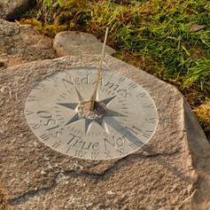Carved Sundial