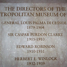 Marble Plaque for the Directors of Metropolitan Museum of Art