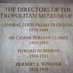 Marble Plaque for the Directors of Metropolitan Museum of Art