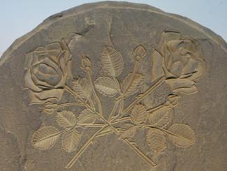 Carved Roses in Bluestone